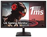 LG 24MK400H-B - Monitor Gaming FHD de 59, 8 cm (23, 8') con Panel TN (1920 x 1080 píxeles,  16:9,  1 ms,  75Hz,  250 cd/m²,  1000:1,  NTSC 72%, D-SUB x1, HDMI x1) Color Negro Mate