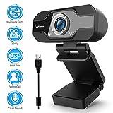 TedGem Webcam, Web CAM, Webcam 1080p Camara Web, Webcam Full HD con Micrófono para Videollamadas (Attention! BZ-Direct/ GUANGHUI717/ Cool Bear-ML Los vendedores Son estafadores, ¡no compres!)